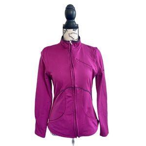 Women's Reebok hot pink light jacket long sleeve